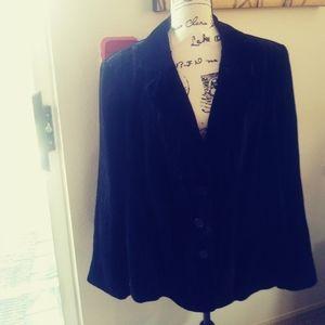 Lane Bryant black velvet blazer size 22.